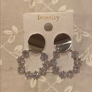 New sterling silver bling crystal earrings